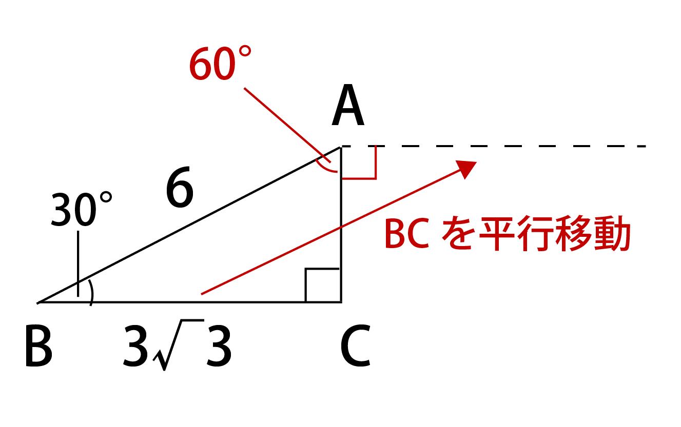 ABベクトルとBCベクトルがなす角